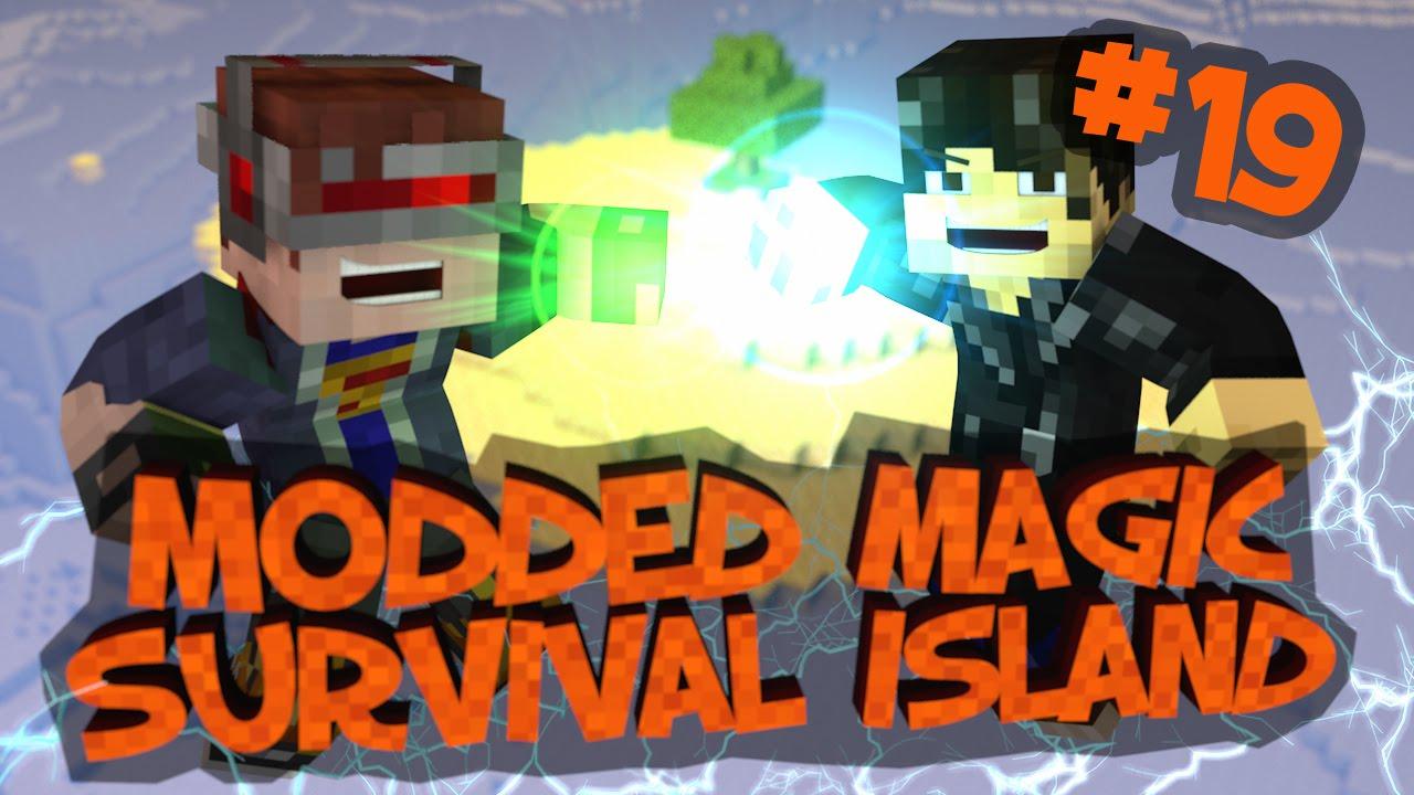 Survival Island Modded Magic - Minecraft: Creepy Sounds! Part 19