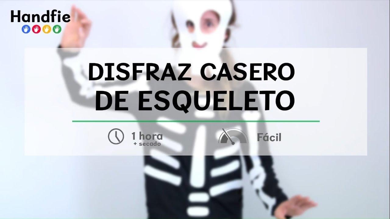 27d48c336 Disfraz casero de esqueleto · Handfie DIY - YouTube