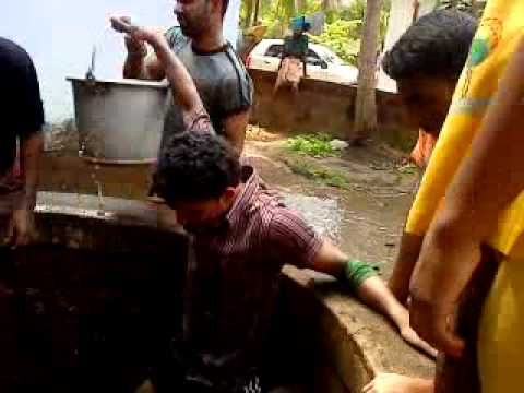 typical style water well cleaning