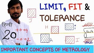 [HINDI] LIMIT, FIT & TOLERANCE ~ INTERCHANGEABILITY ~ ALLOWANCE ~ IMPORTANT CONCEPTS OF METROLOGY thumbnail
