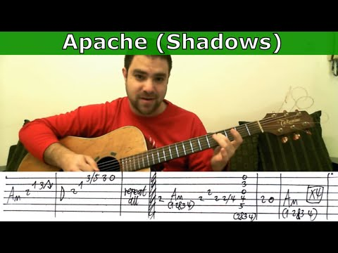 Tutorial: Apache (Shadows) - Fingerstyle Guitar w/ TAB