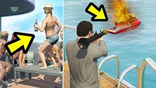 GTA 5 - What happens if you destroy the Jetskis?