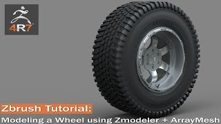 Zbrush 4r7 Tutorial - Modeling a Wheel using Zmodeler+ ArrayMesh Part 1