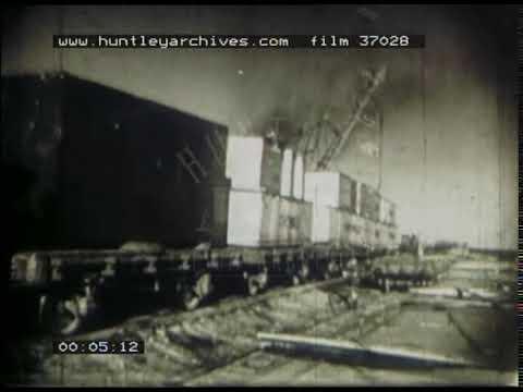USA Freight Train, 1940s - Film 37028