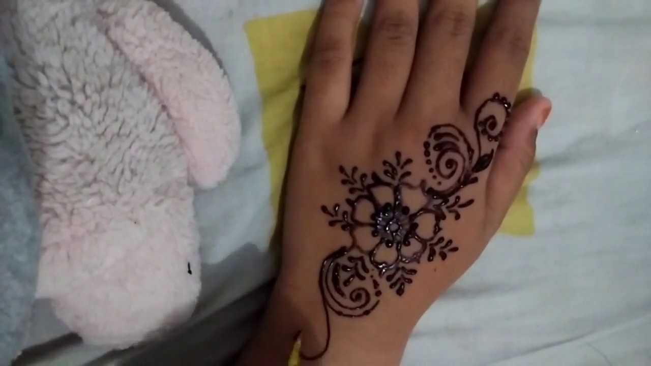 Tutorial Henna Tangan Simple Youtube