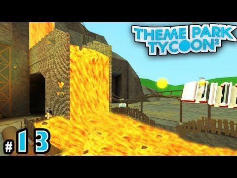 NEW Theme Park Tycoon! #13: LAVA FALLS BRIDGE! | Roblox