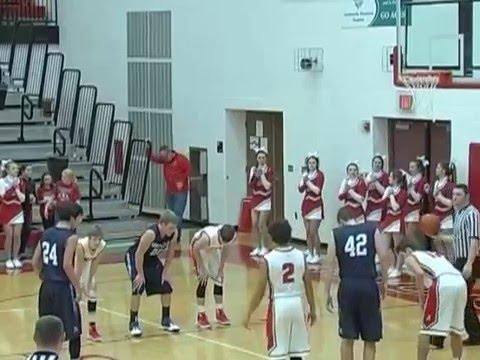 Hicksville Boys Varsity Basketball vs. Montpelier, 11-28-15