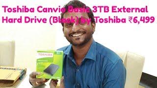 Toshiba Canvio Basic 3TB External Hard Drive (Black) by Toshiba ₹6,499