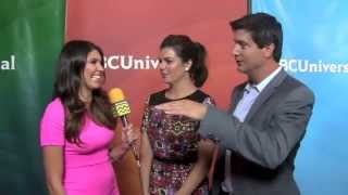 Casey Wilson and Ken Marino from Marry Me @ NBC Red Carpet | AfterBuzz TV Interview