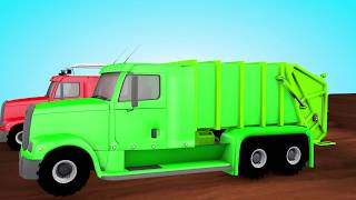 trucks with colors street vehicles  with colours 3D Animation Rhymes For Children Coloursfortoddlers