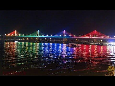 New Mandovi bridge - Night time view etc