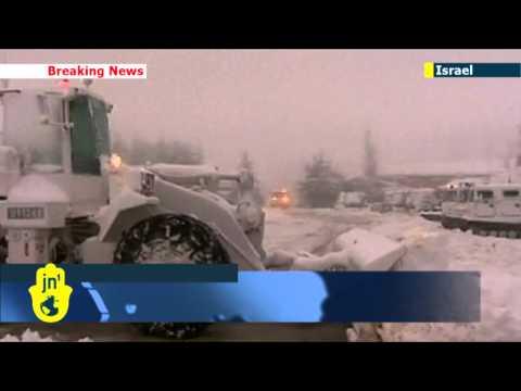 Season's First Winter Storm Hits Israel