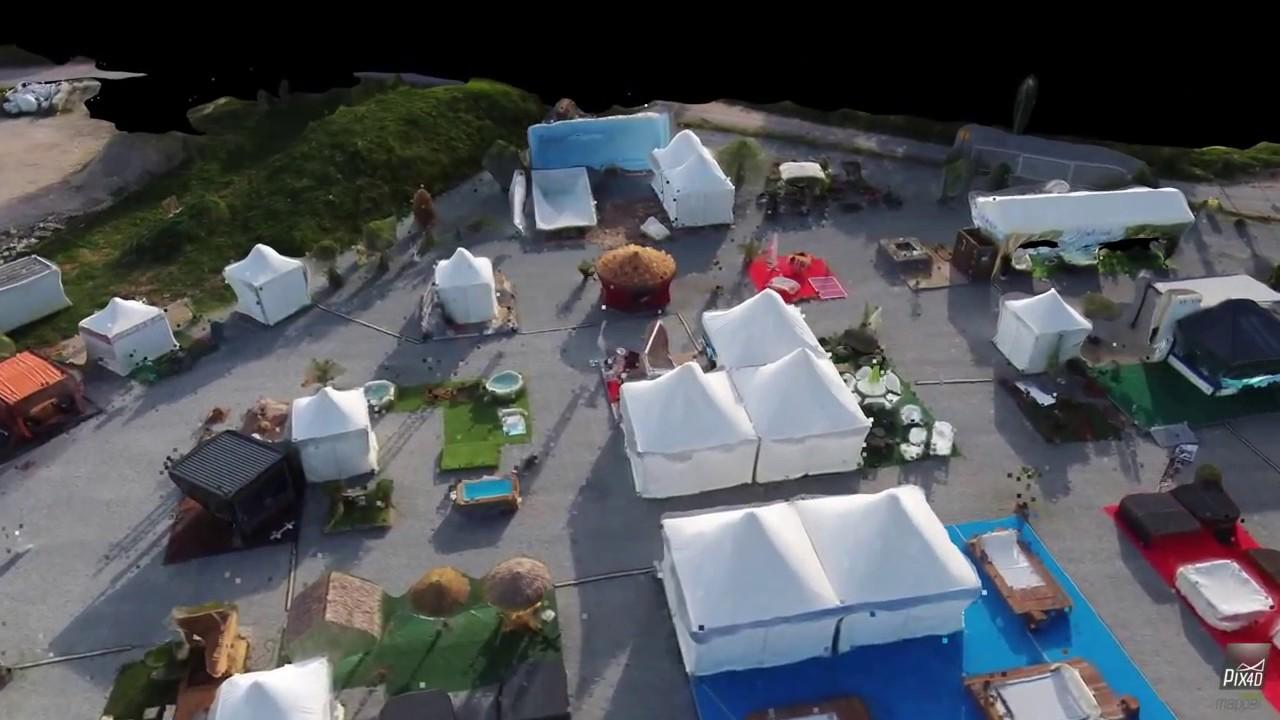Modelisation 3D du Salon Piscine, Spa & Jardin-Côté Var