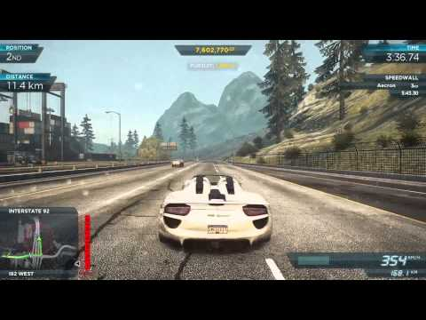 NFS Most Wanted 2012 - 25 Top Speed Tests - 1080p