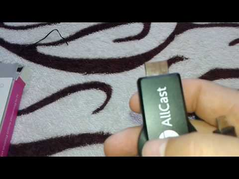 AllCast ( UNBOXING ) tela do Android no projetor