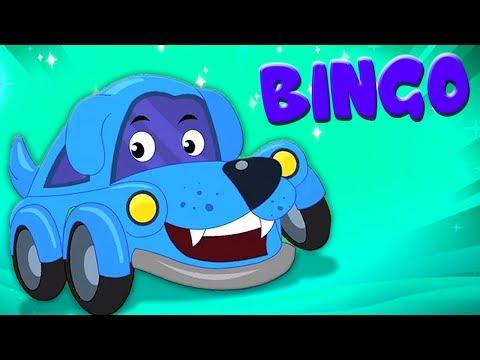 Little Red Car - bingo el perro - canción para niños - rimas infantiles y niños de vídeo - Bingo Dog - 동영상