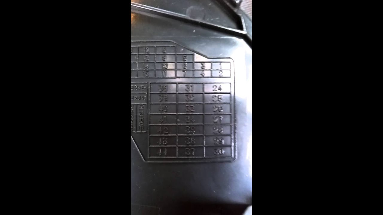 Audi Q7 Fuse Box Diagram