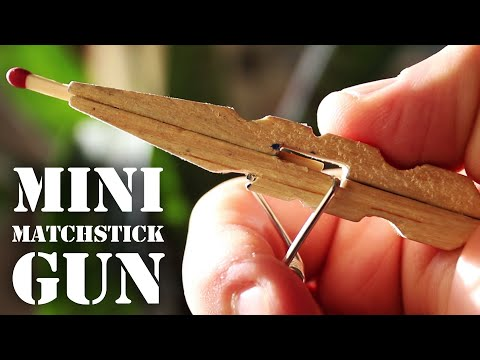 Mini Matchstick Gun - The Clothespin Pocket Pistol