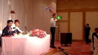 09年12月 石田先輩 品川プリンスホテル 披露宴 もりやすバンバンビガロ ...