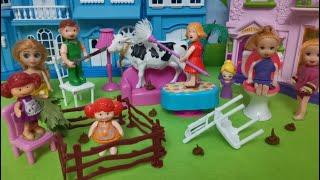 البقرة المجنونة🐮 استحمت بالصابونة 🐮🐄- عائلة عمر - جنه ورؤى - كرتون العاب اطفال  - عالم بامبي