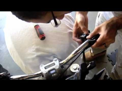 Diy Ducati Monster 696 Handlebars Youtube