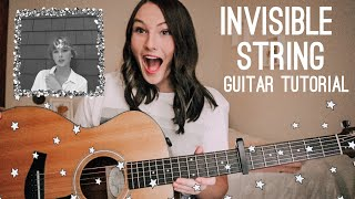 Invisible String Guitar Tutorial - Taylor Swift folklore - beginner fingerstyle   Nena Shelby