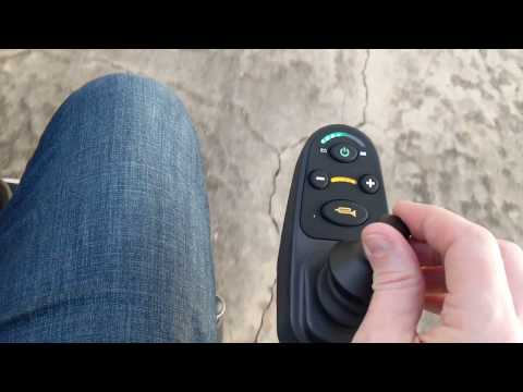 Folding Power Wheelchair Joystick Tutorial and Review