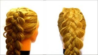Коса из 5 прядей.Как заплести косу.5 strand braid