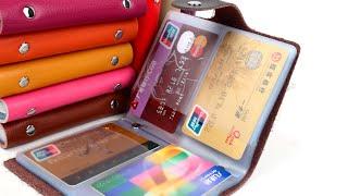 видео Женская визитница для пластиковых и дисконтных карт: купить кошелек-визитницу из кожи