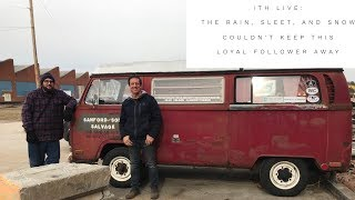 Incredible Tiny Homes Live:  The Rain, Sleet, and Snow Couldn't Keep This Loyal Follower Away!