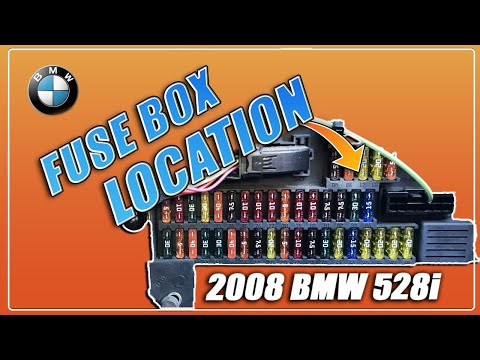 bmw 528i 530i 525i 535i e60 e61 fuse box location 2003 2004 2005 rh youtube com
