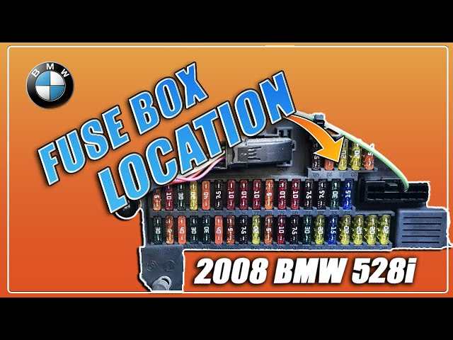 ▶️BMW 528i 530i 525i 535i E60 E61 Fuse Box Location 2003 2004 2005 2006  2007 2008 2009 2010 - YouTubeYouTube