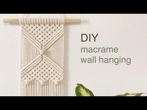 DIY TUTORIAL macrame wall hanging berry knot | 마크라메 월 행잉 베리 매듭