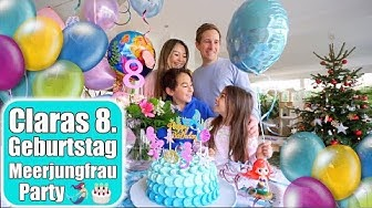Claras 8. Geburtstag 🎂 Strahlende Augen & Geschenk auspacken! Meerjungfrau Party Torte | Mamiseelen