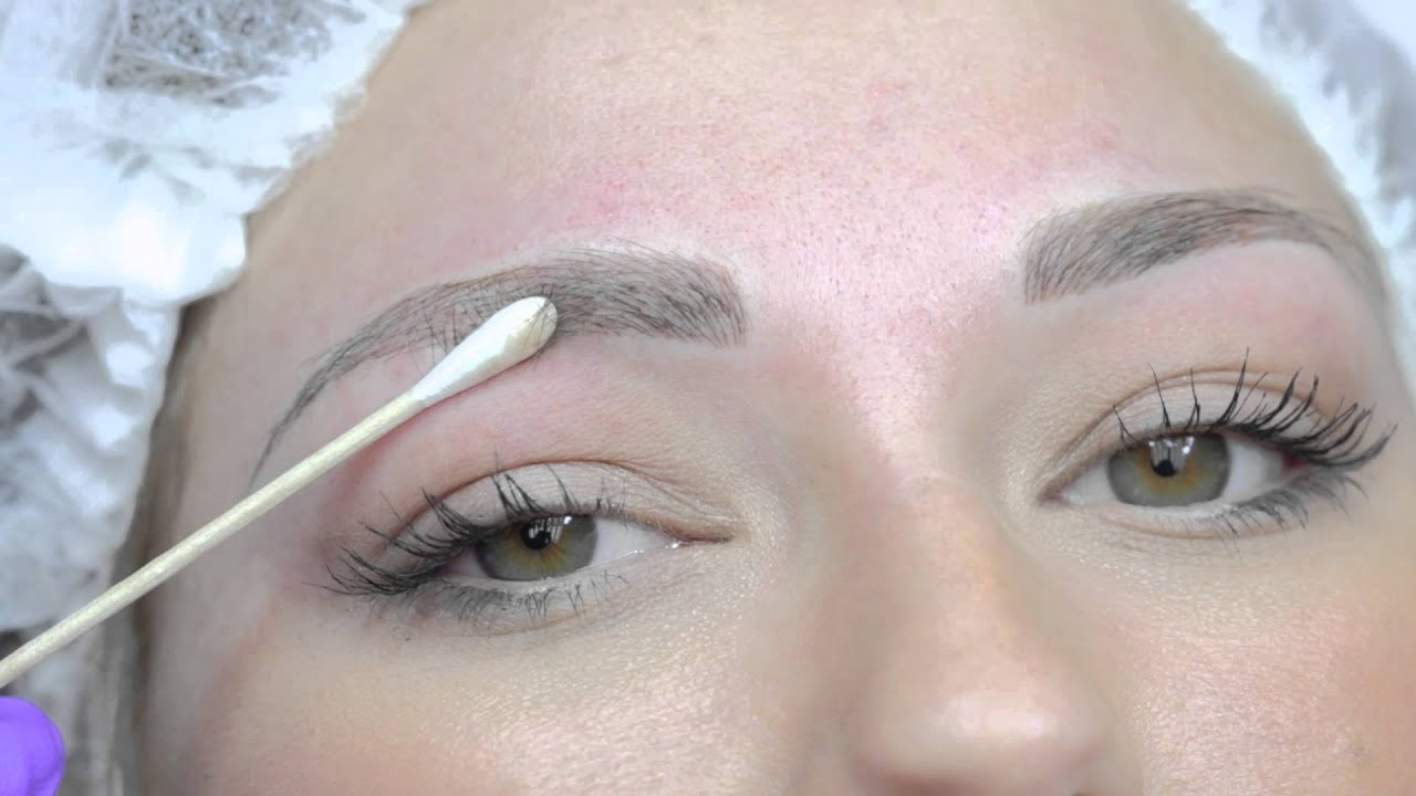 Microblading Permanent Eyebrows Tattoo Youtube