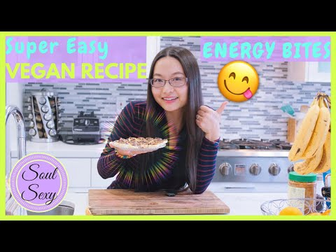 Vegan Recipe Easy - Healthy & Energy Boosting Snack Bites   RAW