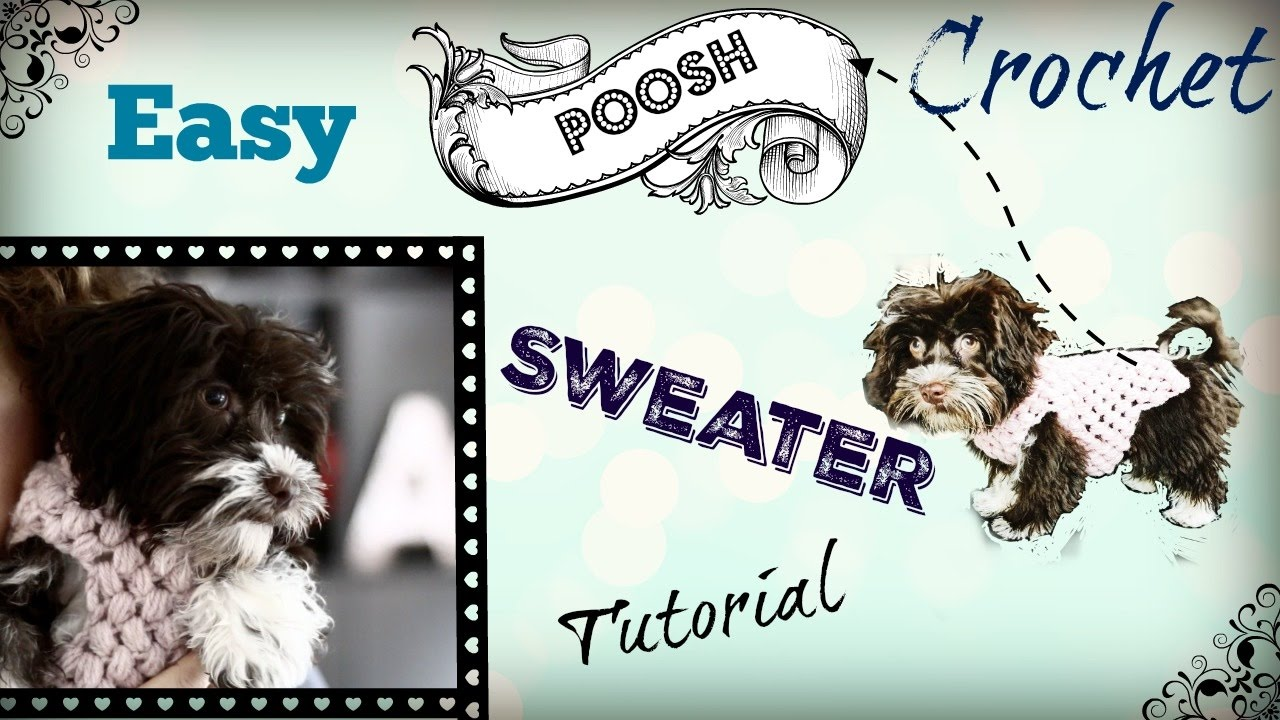 Easy Crochet Dog Sweater Tutorial Youtube
