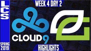 C9 vs OPT Highlights | LCS Spring 2019 Week 4 Day 2 | Cloud9 vs Optic Gaming