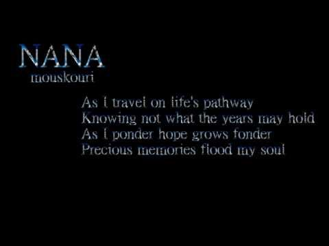 Precious Memories + HD / Nana Mouskouri / Lyrics