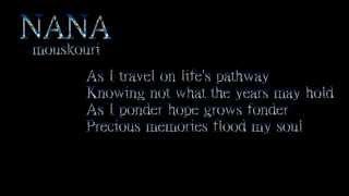 Precious Memories + HD / Nana Mouskouri / Lyrics