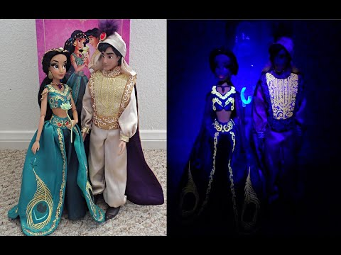 Disney Designer Fairytale Jasmine & Aladdin Dolls Review Day & Night