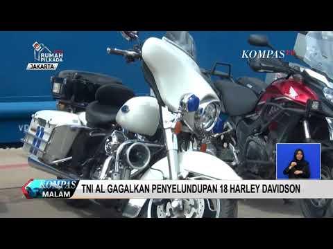 TNI AL Gagalkan Penyelundupan 18 Motor Harley Davidson