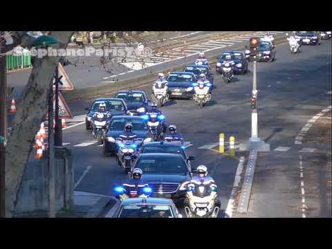 Le Plus Gros Convoi VIP / Police  Filmé à Paris