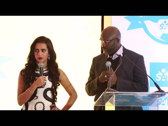 Sheikha welcome George Weah in the SATUC tournament Sharm el-Sheikh 2016