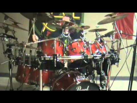 J-rad Sterling In the BK Studio recording Drums