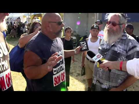 Rabbi confronts Christian proselytizing at Israeli Independence Fair in L.A. 2014