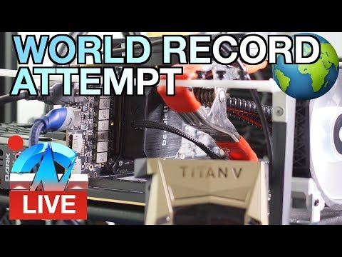 Live: Titan V - Attempting World Record Overclock (Top 10)