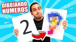 CONVIRTIENDO NUMEROS EN DIBUJOS !! 10 DIBUJOS CREATIVOS | HaroldArtist