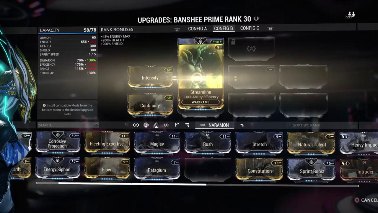 44de6833b5e6 Banshee Prime Resonanting Quake Build Youtube