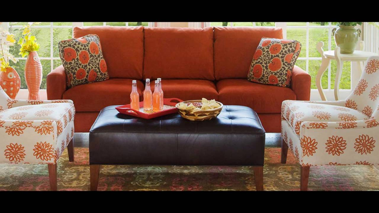 Leather Top Coffee Table Ottoman
